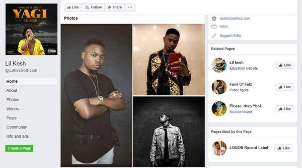 Lil-Kesh-Facebook-account