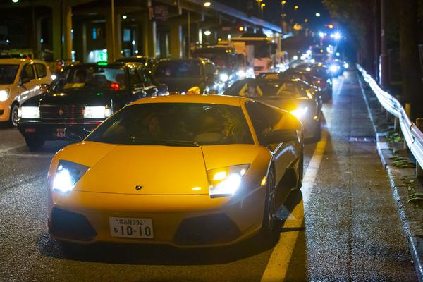 Lamborghini cars on the streets of Yohohama