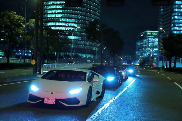 Lamborghini in line