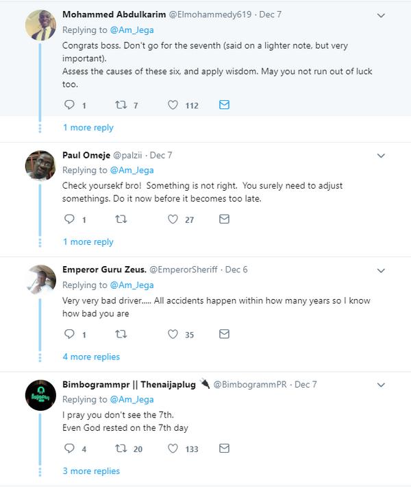 Replies on Twitter