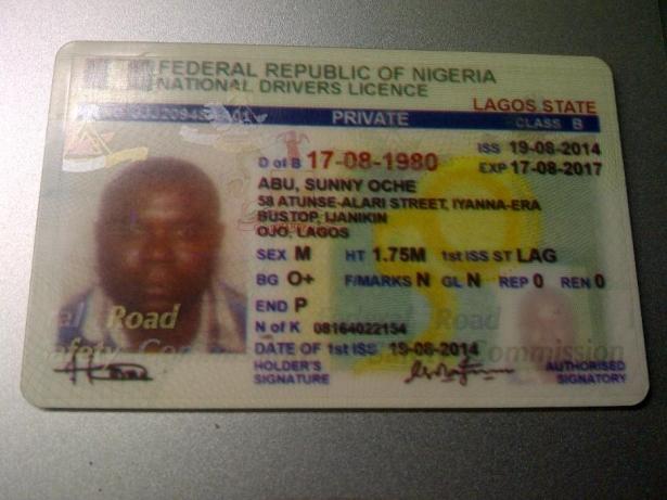 a Nigeria's driving license