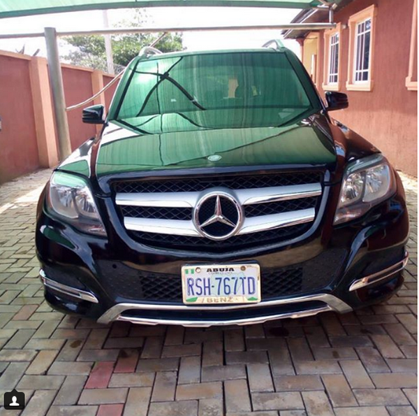 The front of a black Mercedes-Benz