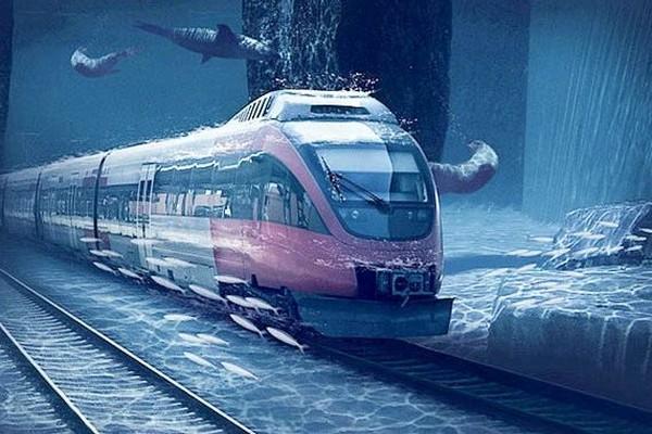 an underwater train