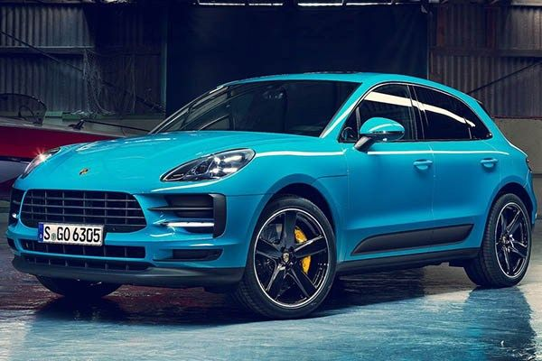 angular front of Porsche Macan 2019