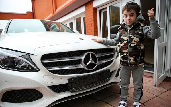 Rahim and his gifted Mercedes C108