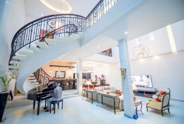 The interior of the P-Square mansion in Banana Island, Lagos