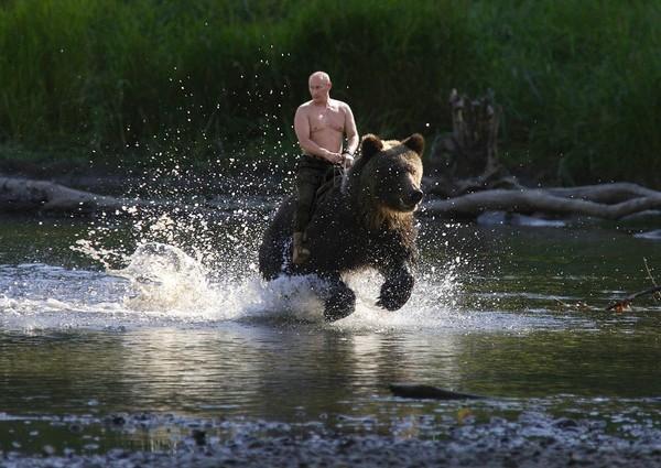 Putin-riding-bear