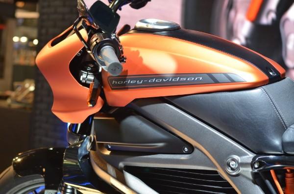 Harley Davidson badge on a