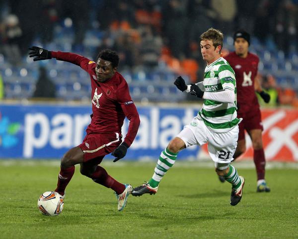 Obafemi Martins playing as a player of Rubin Kazan