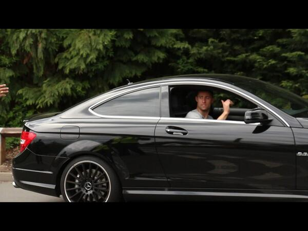 Gary-Cahill-in-the-front-seat-of-a-Mercedes-Benz