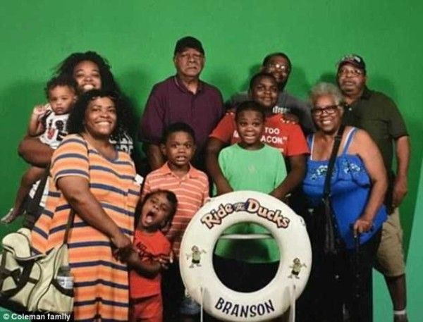 the victim family in a picture taken just before the deathly ride
