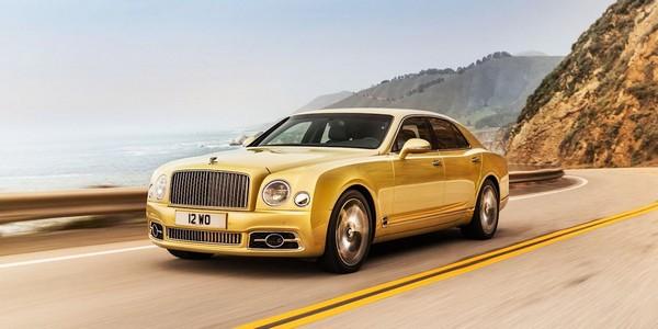 a-yellow-Bentley-Mulsanne