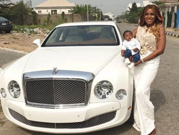 Linda-and-the-Bentley-car