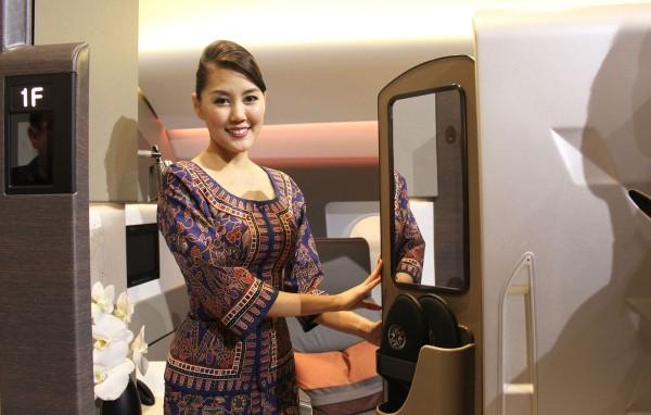 A Singapore Airline's flight attendant