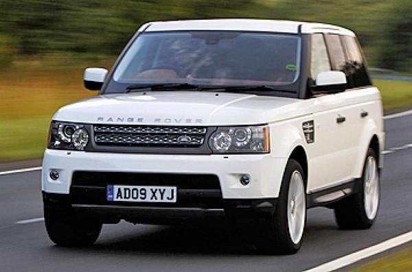 a-white-range-rover-v8