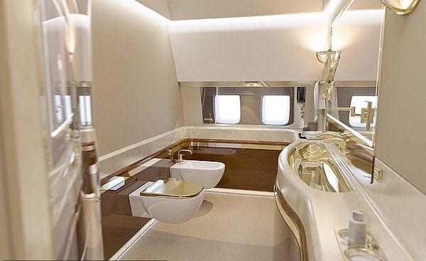 toilet-and-bath-in-Putin-private-jet