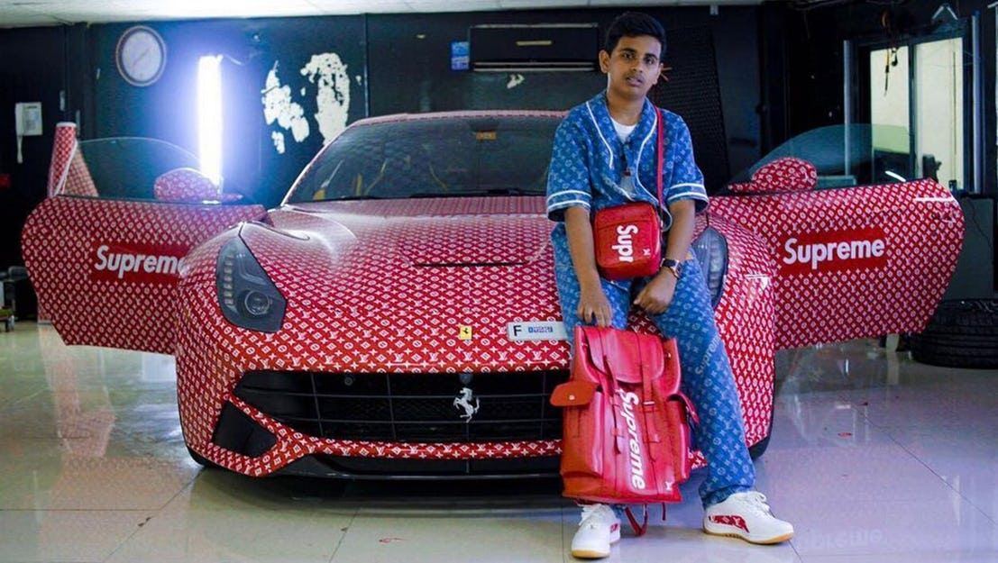 Rashed-with-his-lv-car