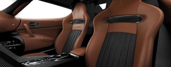 Posh buttery-soft leather seat on theKoenigsegg Regera