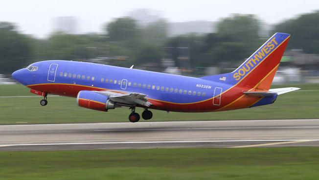 a-plane-of-southwest-airlines