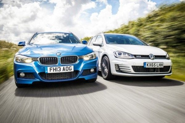 Volkswagen-and-BMW-cars-running