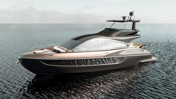 Lexus-yacht-on-sea