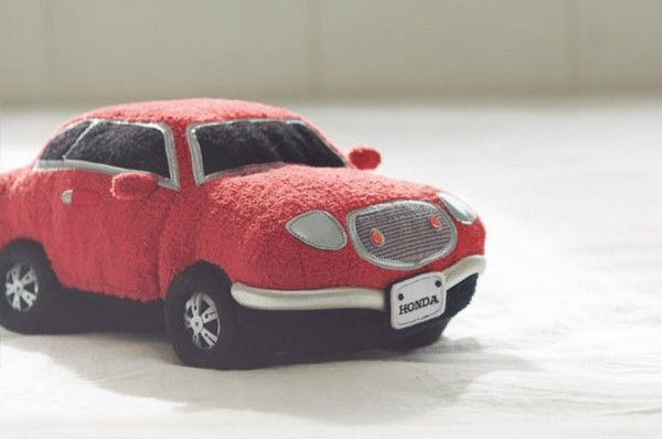 a-red-toy-car