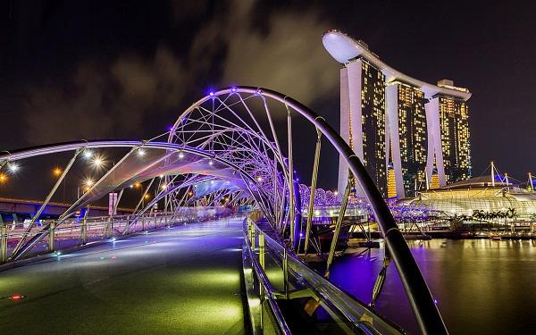 Image-of-helix-bridge-night-lights