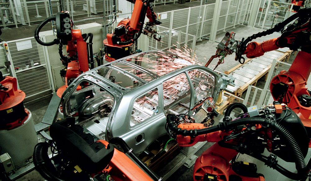 a-car-frame-being-manufactured