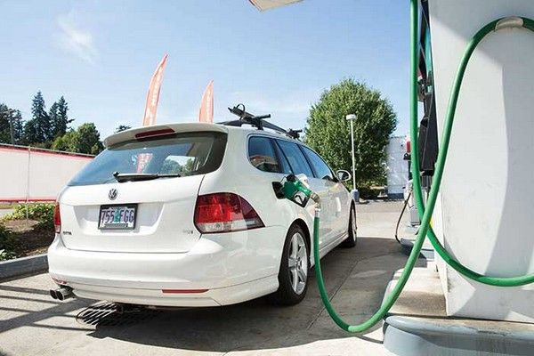 Volkswagen-car-fueling-with-biofuel