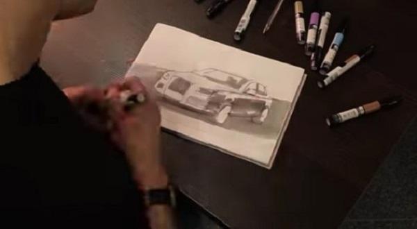 Image-showing-hand-drawings-of-Russian-president-Vladimir-Putin's-Armored-Aurus-Limo