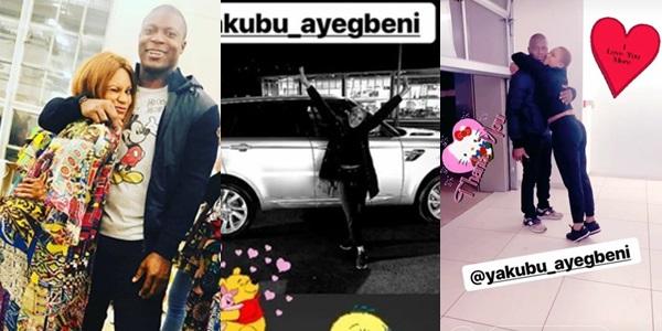 Yakubu-Aiyegbeni'-and Yakubu-Aiyegbeni-wife-and-her-range-rover