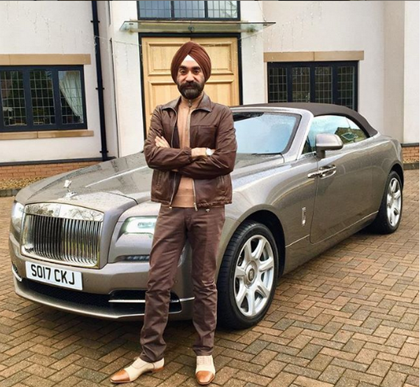 Reuben-Singh-and-his-brown-rolls-royce
