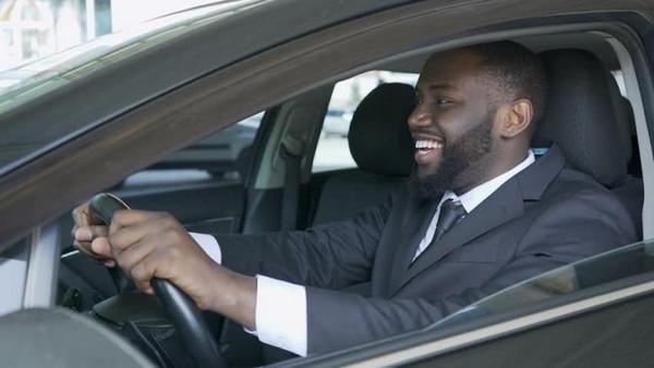 a-man-test-driving-car