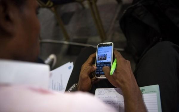 man-using-phone