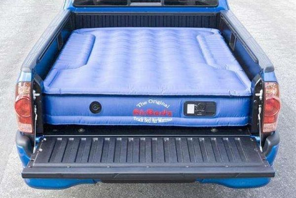 Air-mattress-in-the-bed-of-a-truck