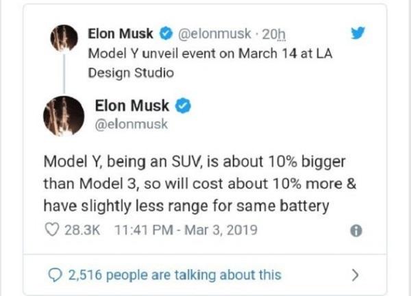 Elon-Musk's-Tesla-Model-Y-Crossover-SUV-tweet