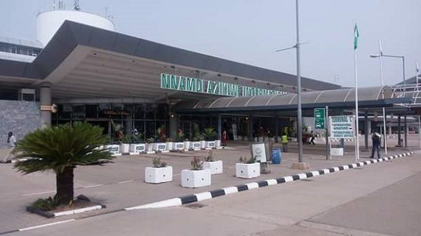 Front-view-of-the-airport-at-Abuja