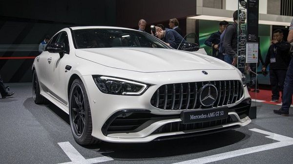 Benz- car-surrounded-by-people