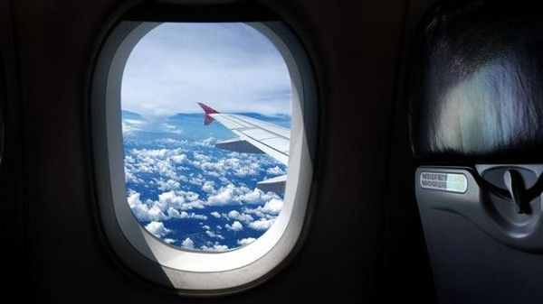 window-on-airplane