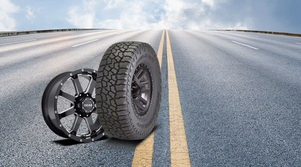 Tire-and-rim-on-road