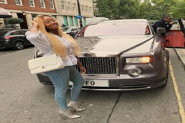 DJ-Cuppy-and-Rolls Royce