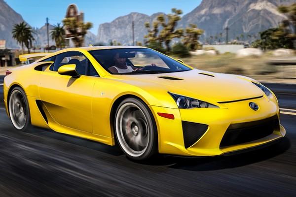 a-yellow-lexus-LFA