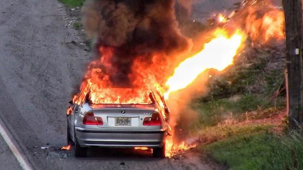 a-car-on-fire