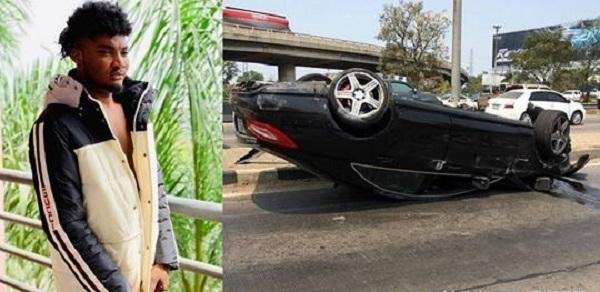 Mawuli-Younggod-and-overturned-car