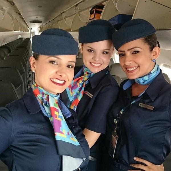 Azul-airline-air-hostess