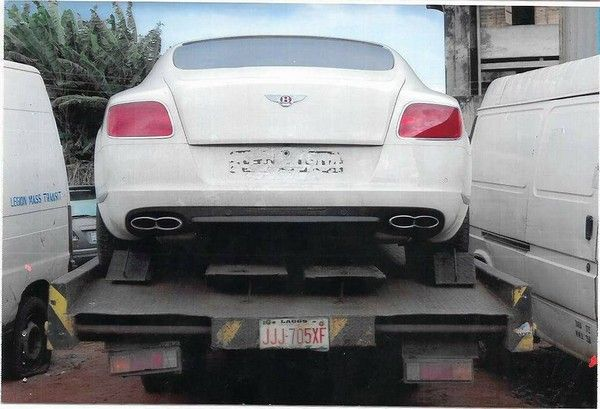 Bentley-smuggled-into-Nigeria-rear