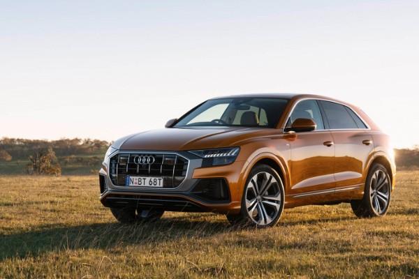 a brown Audi