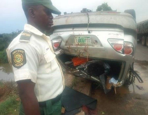 Wrecked-car-at-accident-scene