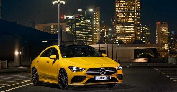 a-yellow-Mercedes-AMG-CLA-35