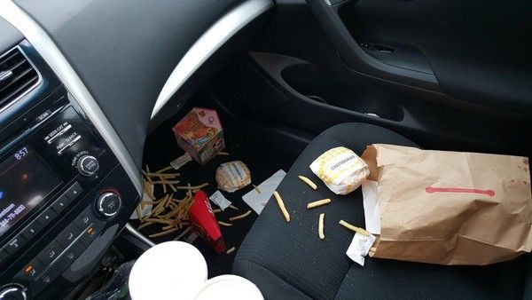 food-crumbs-in-car